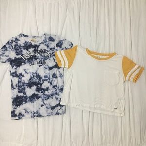 2- Hollister Shirts Bundle S & XS